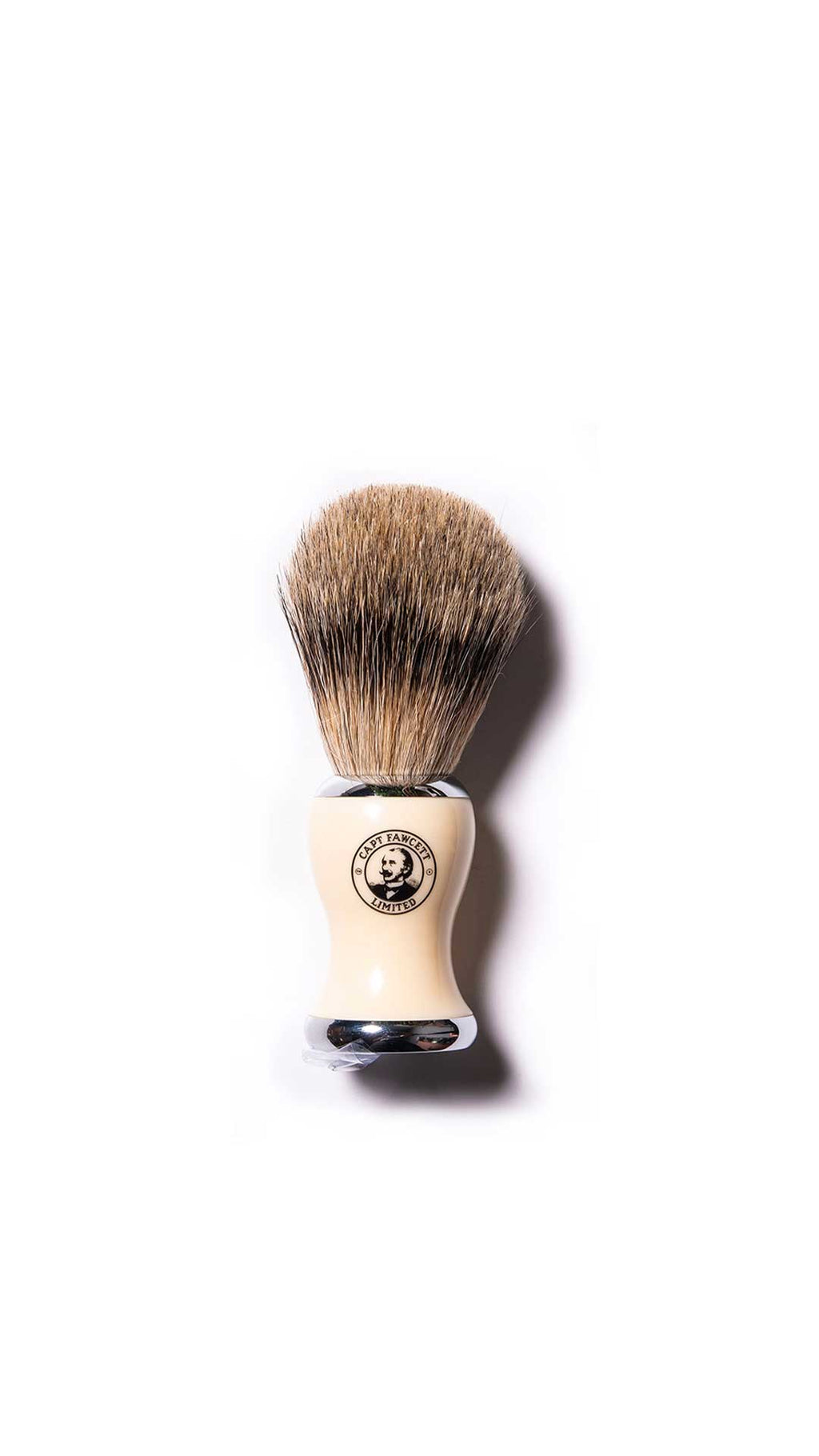 BEST BADGER SHAVING BRUSH - BLAIREAU DE RASAGE - CAPTAIN FAWCETT