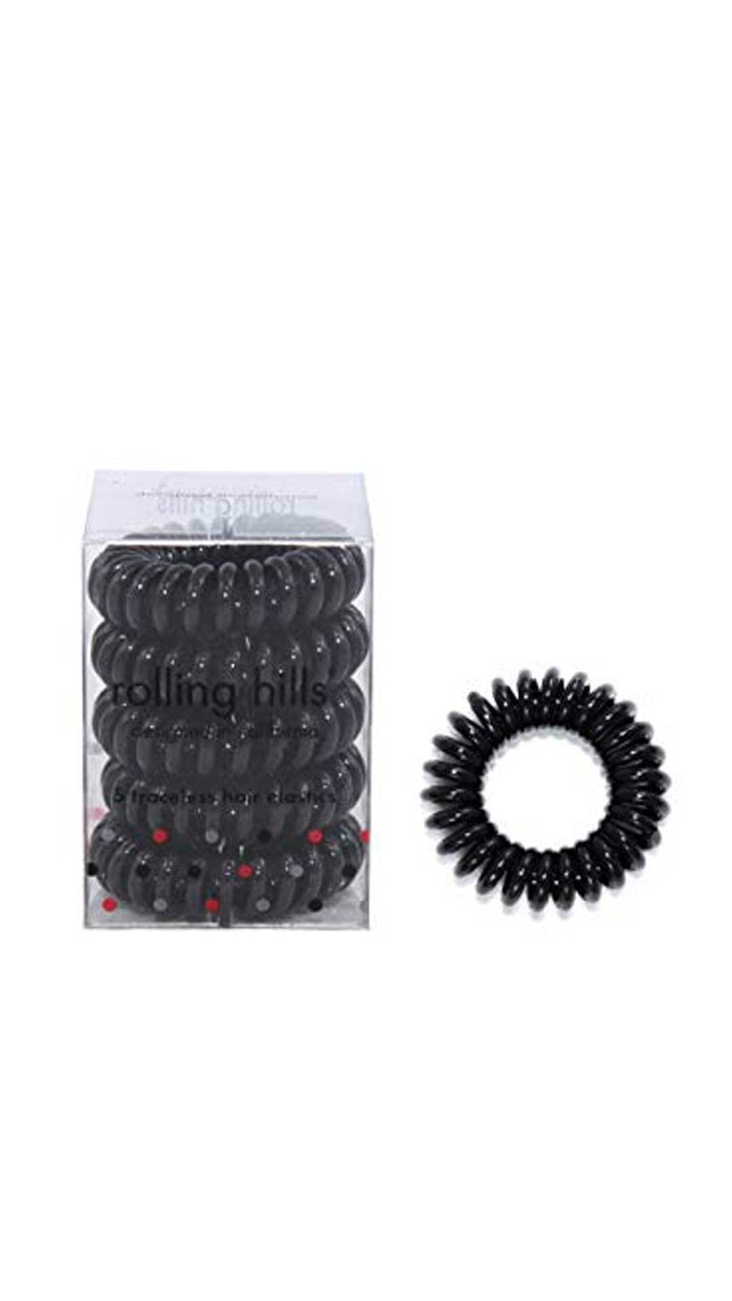 ROLLING HILLS HAIR RINGS BLACK - ROLLING HILLS