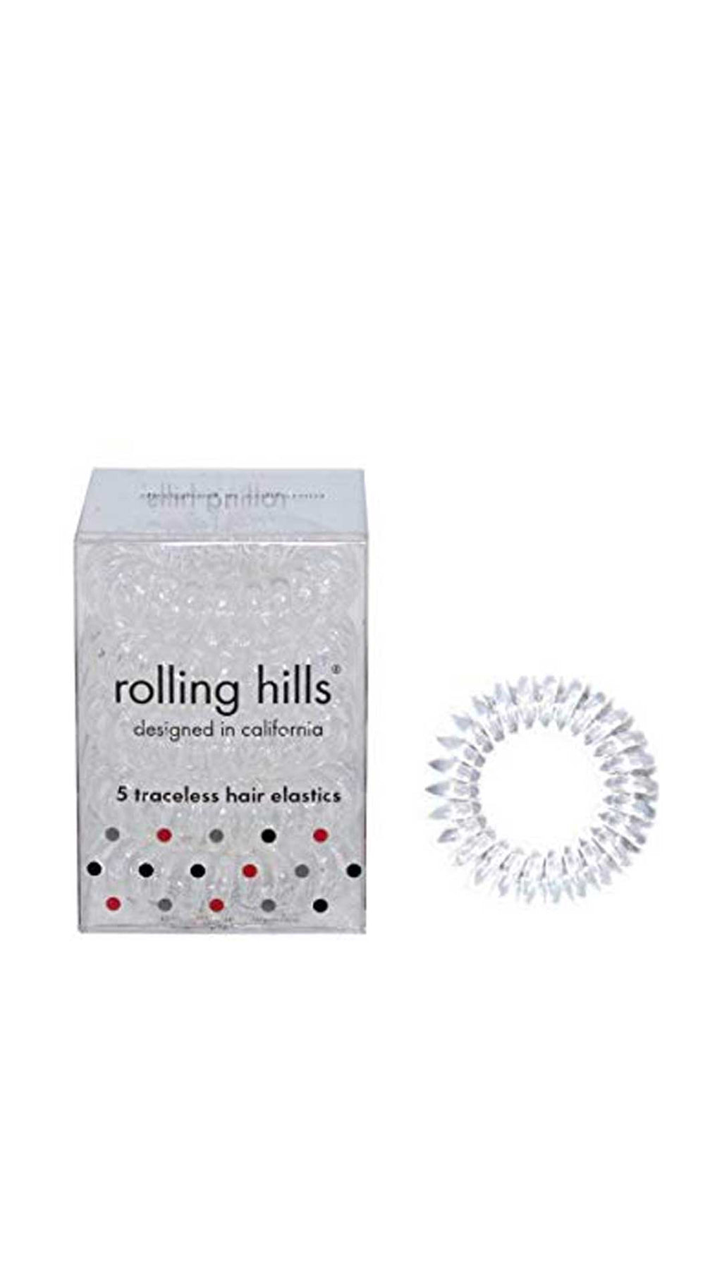 ROLLING HILLS HAIR RINGS TRANSPARENT - ROLLING HILLS