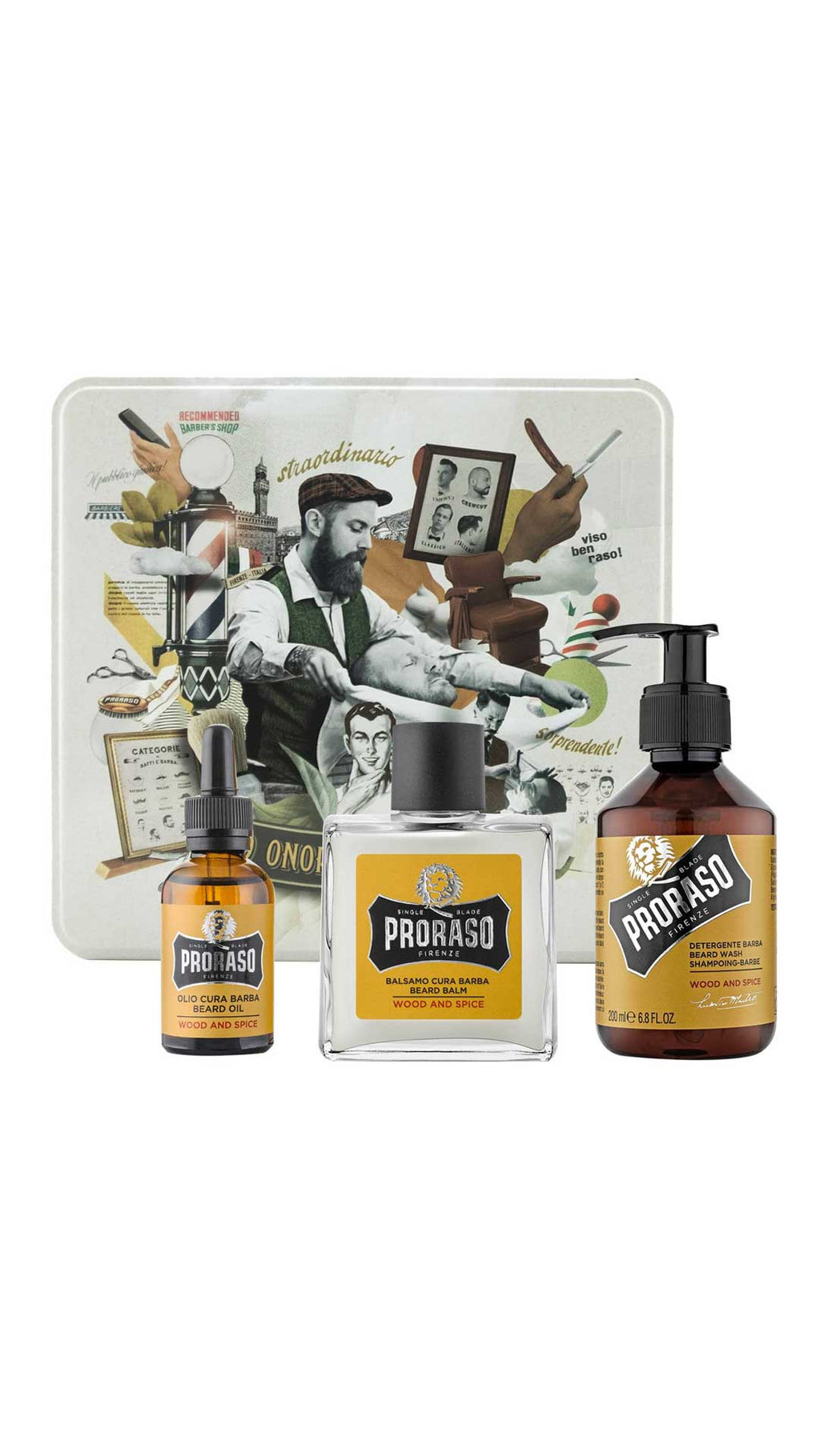 COFFRET BARBE WOOD & SPICE - PRORASO