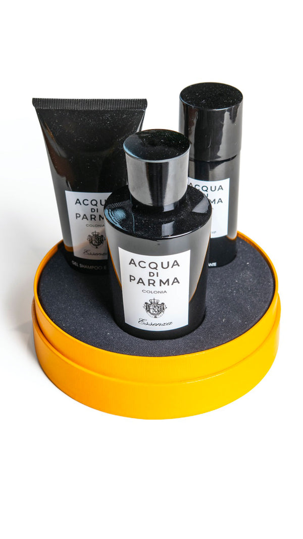 COFFRET COLONIA ESSENZA (EDC 100ml,Gel Douche 75ml, Déodorant 50ml) - Acqua di Parma