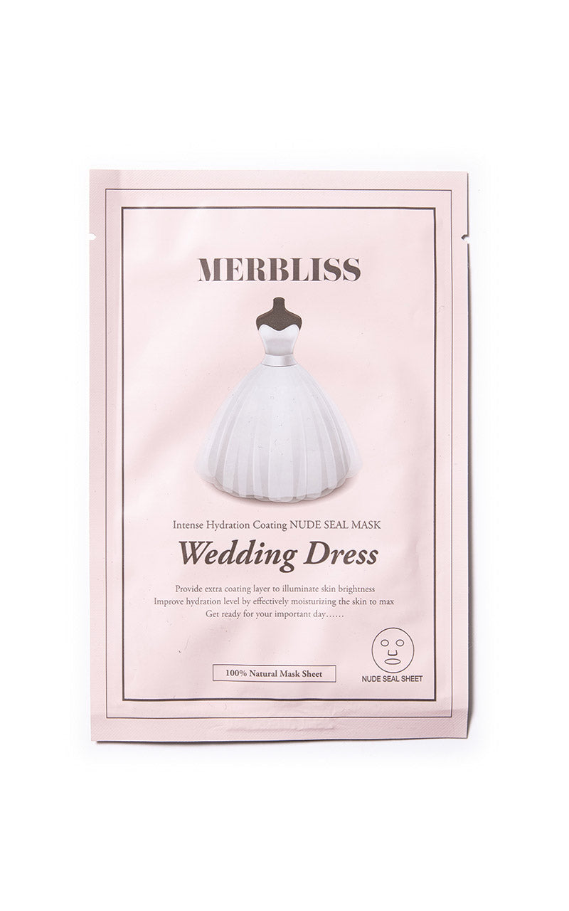 MASQUE VISAGE WEDDING DRESS - HYDRATATION ÉCLAT - MERBLISS