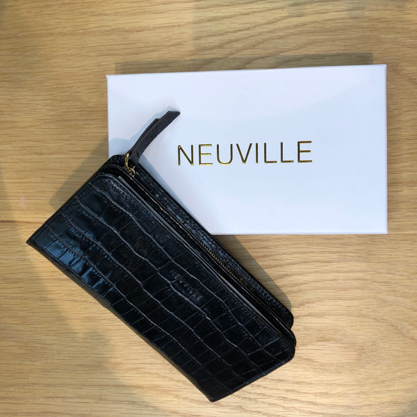 PORTE-FEUILLE FUN BLACK CROCO