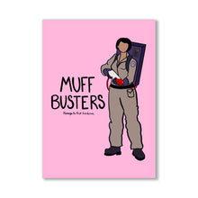 Load image into Gallery viewer, Muff Busters Postcard