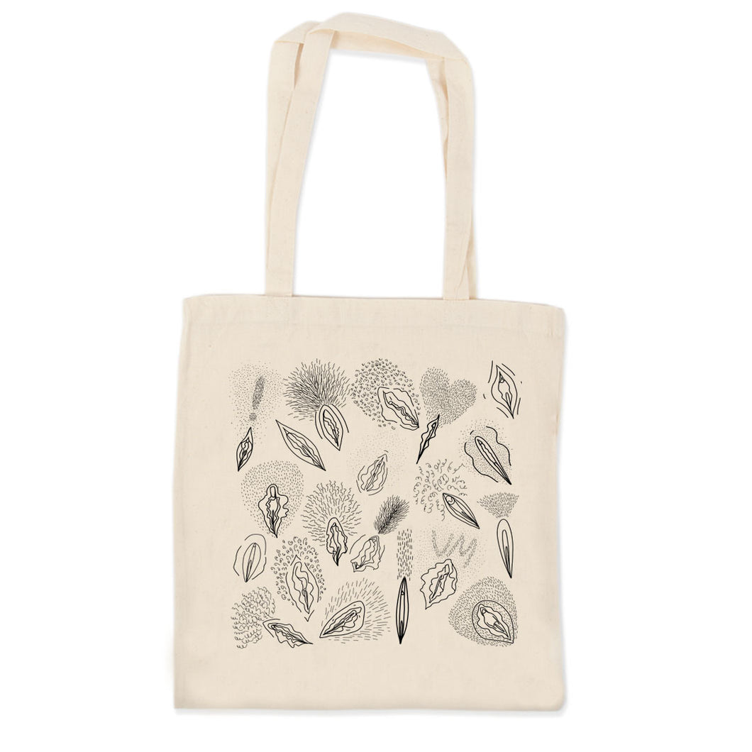 Hairy Vulvas Tote Bag