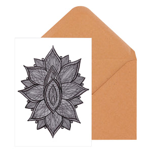 Vulva Mandala Greeting Card