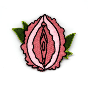Peony Vulva Embroidered Patch