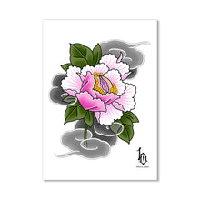 Load image into Gallery viewer, Japanese Woodblock Print Style Postcard - Vulva Flower