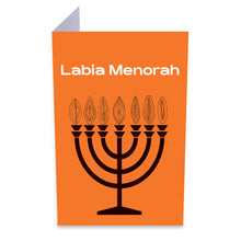 Load image into Gallery viewer, Labia Menorah Greeting Card