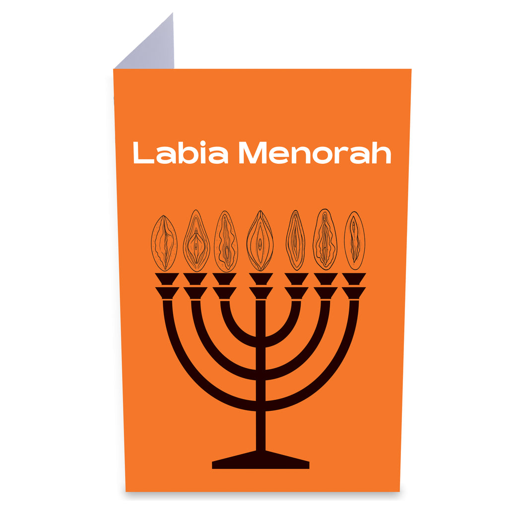 Labia Menorah Greeting Card