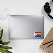 Load image into Gallery viewer, Rainbow/Trans Pride Flag Sticker