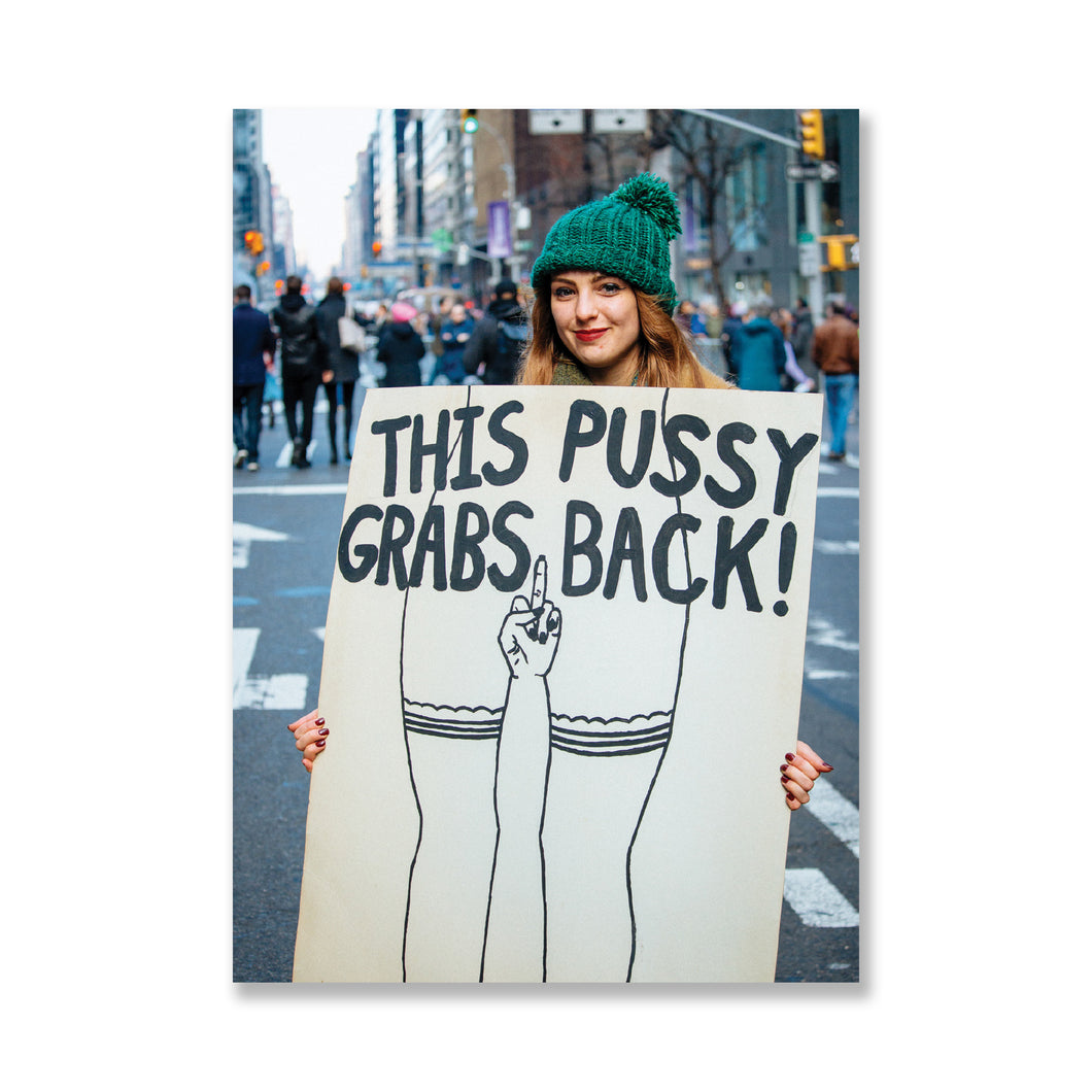 Pussy Grabs Back Postcard - A5