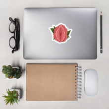 Load image into Gallery viewer, Peony Vulva Vinyl Sticker