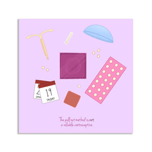 Contraception Postcard - Square