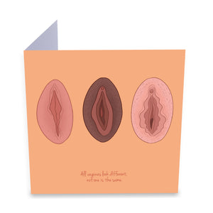 Vulva Diversity Greeting Card