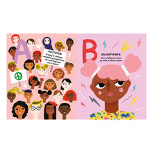 Load image into Gallery viewer, F is for Feminism: An Alphabet Book of Empowerment by Carolyn Suzuki