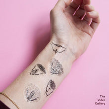 Load image into Gallery viewer, Vulva Gallery Temporary Tattoos