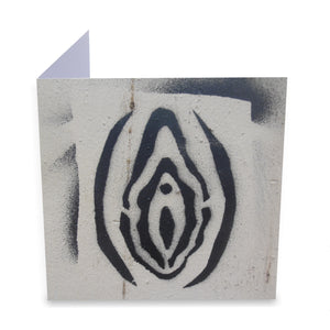 Vulva Stencil Greeting Card