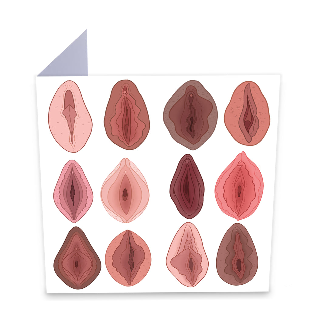 Vulvas Greeting Card