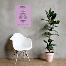 "Load image into Gallery viewer, Lilac ""Love Your Vulva"" Poster"
