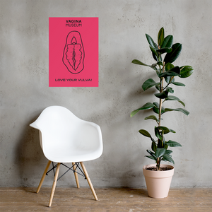 "Pink ""Love Your Vulva"" Poster"