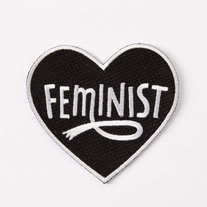 Feminist Heart Embroidered Iron On Patch