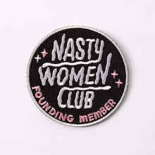 Load image into Gallery viewer, Nasty Women Club Embroidered Iron On Patch