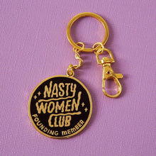 Load image into Gallery viewer, Nasty Women Club Enamel Keyring