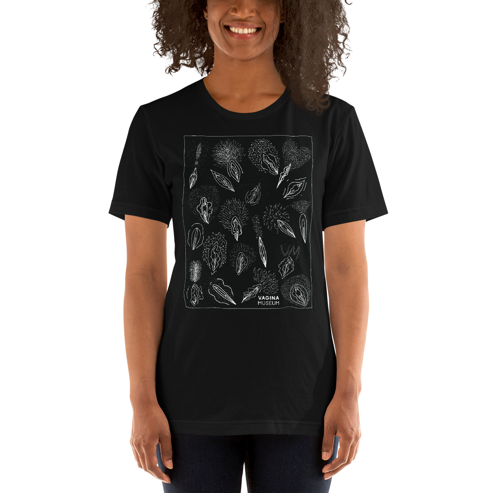 Black Hairy Vulva T-Shirt