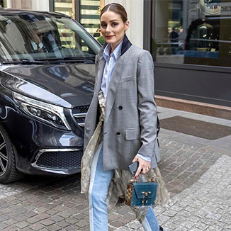 Olivia Palermo Wears Okhtein During MFW