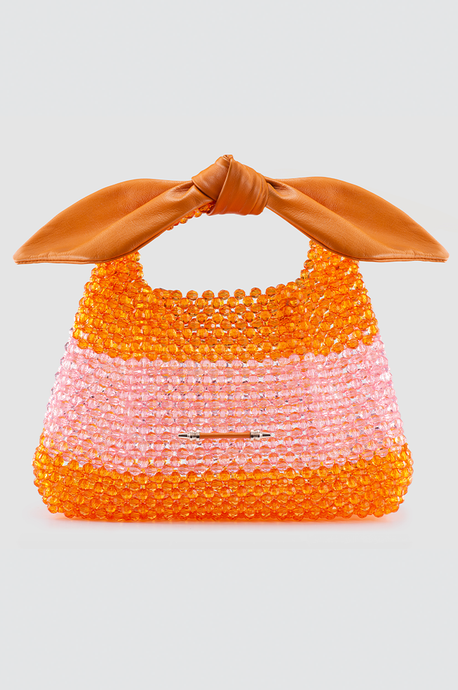 Palmette Leaf Bucket Orange/Pink Beads