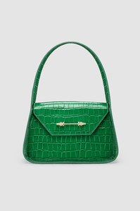 The Feryel Handbag Green Crocodile