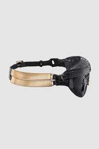 Banana Belt Bag Black Python Gold