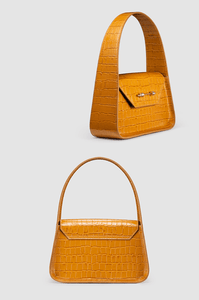 The Feryel Handbag Caramel Crocodile