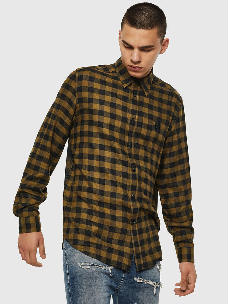 Diesel - S-Ven Check Shirt - Olive