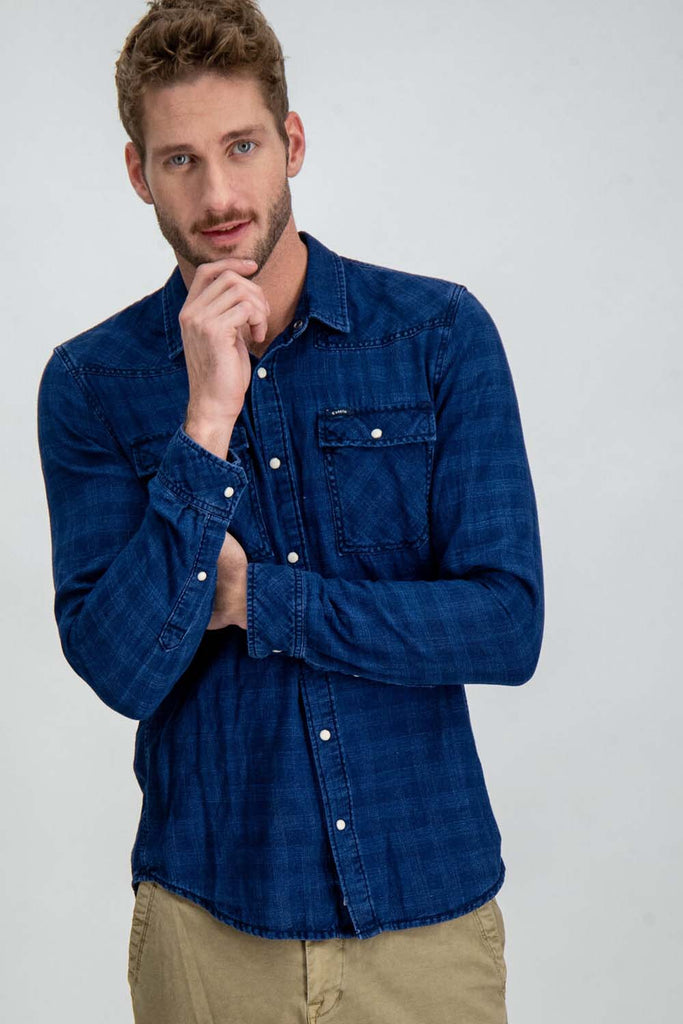 Garcia - Greenville LS Shirt - Indigo