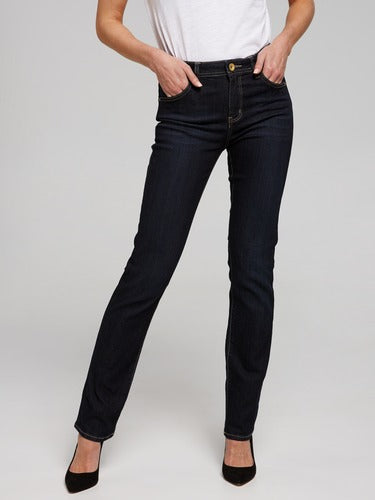 Riders - Mid Rise Straight Jean - Worn Rinse Blue