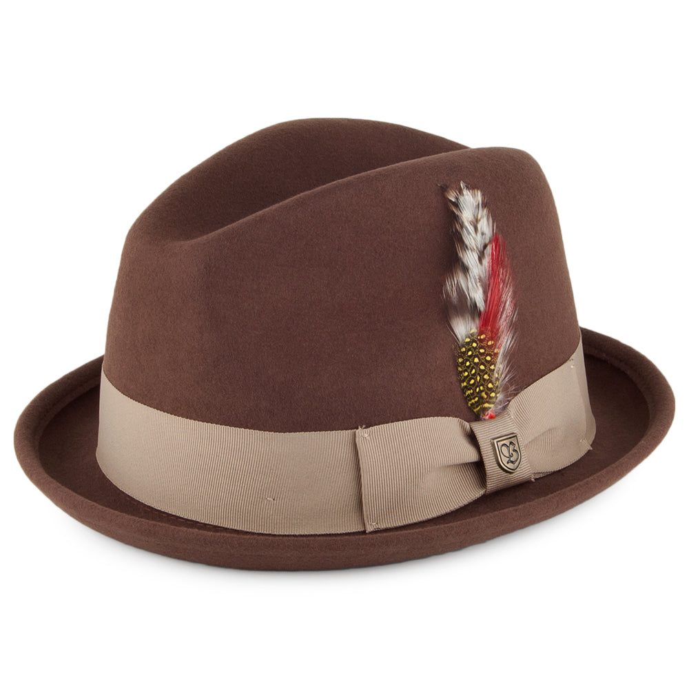Brixton - Gain Fedora - Light Brown