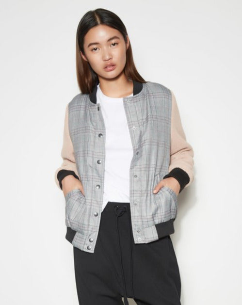 The Fifth Label - Cypress Bomber - Charcoal Check