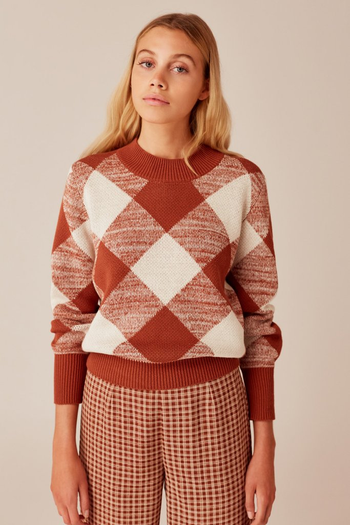 The Fifth Label - Angle Knit - Toffee w Ivory