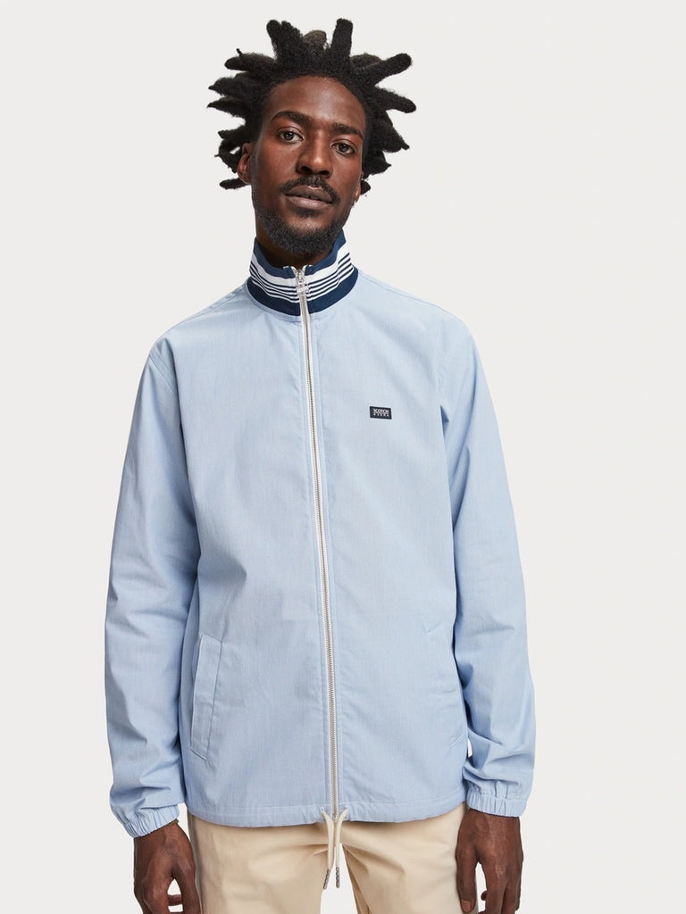 Scotch & Soda - Zip Through Jacket - Sky Blue