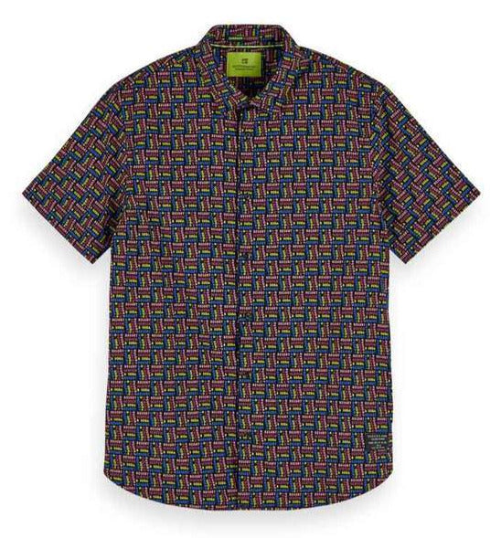 Scotch & Soda - Regular Fit Printed Shirt - Multi