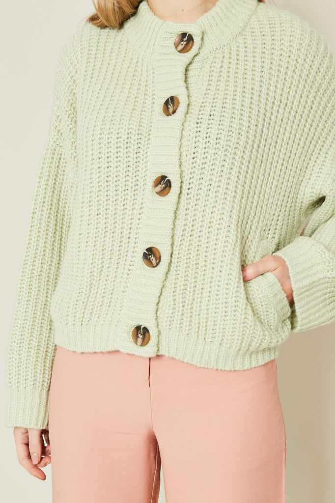 Native Youth - Rae Cardigan - Mint Green