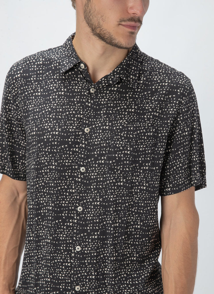 Barney Cools - Holiday SS Shirt - Black Ditzy