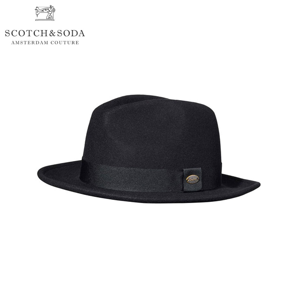 Scotch & Soda - Classic Fedora Hat - Black