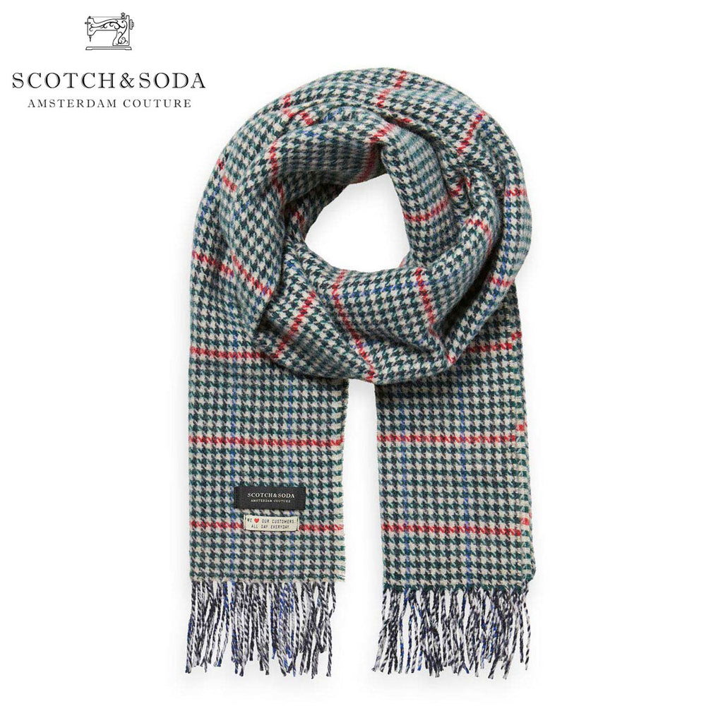 Scotch & Soda - Classic Woven Wool Scarf - Green