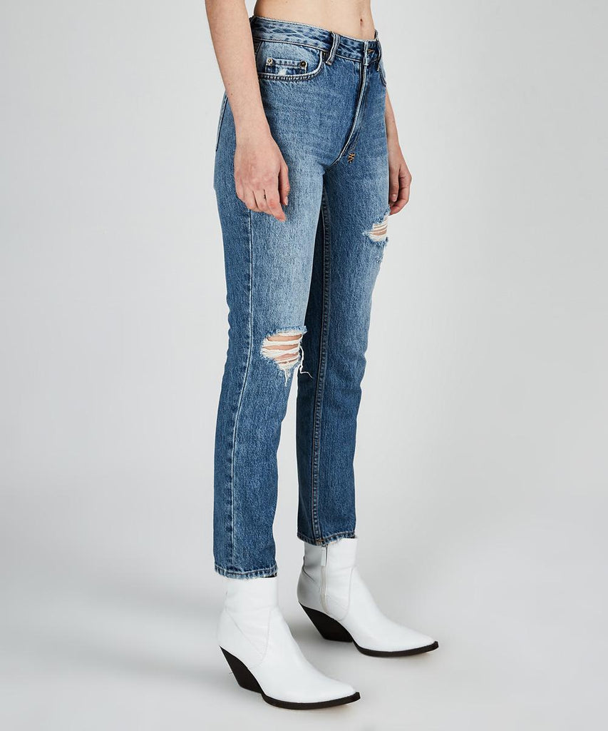 Ksubi - The Slim Pin Jean - Rushed Blue