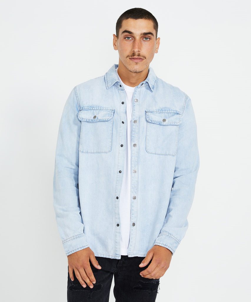 Ksubi - Shockwave Shirt - Stoked Blue