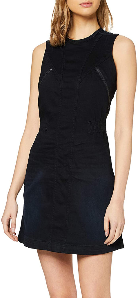 G-Star Raw - Lynn 2-Zip Slim Dress - Worn In Blue Storm