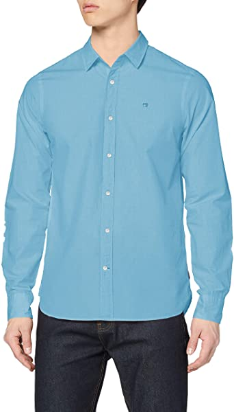 Scotch & Soda - Garment Dyed Crispy Poplin Shirt - Peacock